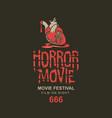horror movie festival banner for scary cinema vector image