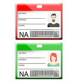 ID Card vector image