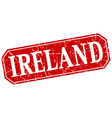 Ireland red square grunge retro style sign vector image vector image