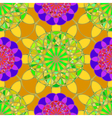 Kaleidoscope diamond on a background of leaves vector image