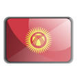kyrgyzstan flag on white background vector image vector image