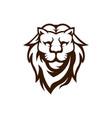 lion mascot logo design black and white vector image