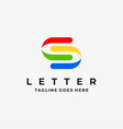 logo abstract letter s line art style vector image