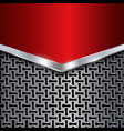 Metal background Red chrome Metal grid vector image vector image