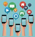 mobile smartphones app vector image