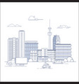 modern city landscape with buildings and urban vector image vector image