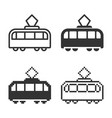 monochromatic trami icon in different variants vector image