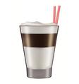 mug layered caffe latte vector image