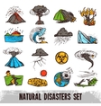 Natural Disasters Color Set vector image vector image