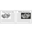 Newspaper Valentine Day vector image vector image