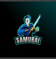 ninja samurai assassin mascot logo icon
