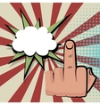 Provocative middle finger comic retro pop art vector image