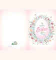 ready for print happy easter greeting card whit vector image vector image