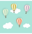 Retro Pattern with Air Balloons vector image