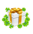 saint patricks day gift box with vector image