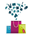 sale tag shopping bags concept background i vector image vector image