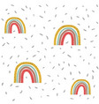 seamless pattern rainbow and rain vector image