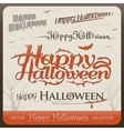 set happy halloween greetings typography vector image vector image
