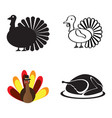 set of turkey icons vector image vector image