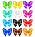 set twelve festive bows vector image vector image