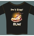 Shoe Design on Black T-Shirt vector image vector image