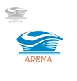 Sport stadium or arena abstract blue icon vector image