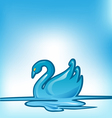 swan background vector image
