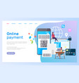 template online payment site smartphone vector image