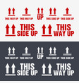 this side up icon this way up sign packaging vector image vector image