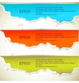 torn paper banners vector image vector image