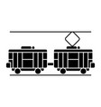 tram icon black sign on vector image vector image