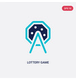 two color lottery game icon from entertainment vector image vector image
