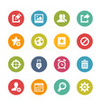 web and mobile icons 2 - fresh colors series vector image vector image