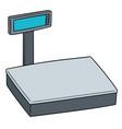 weighing machine vector image vector image