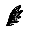 wing feather fly decoration symbol emblem vector image vector image
