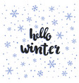 winter lettering vector image vector image