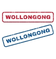 Wollongong Rubber Stamps vector image vector image