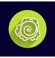 Cabbage hand drawn vegetables kale logo vector image