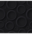 Black abstract seamless pattern with circles vector image