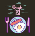 break fast food vector image