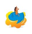 flamenko dancer Cartoon vector image