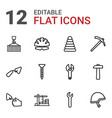 12 build icons vector image vector image