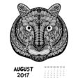 2017 calendar page of month vector image vector image