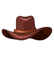 A brown coloured hat vector image vector image