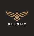 abstract bird flight logo vector image