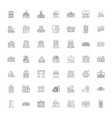 architectural houses linear icons signs symbols vector image vector image