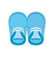 baby booties for boy child cute image vector image vector image