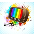 Background with tv vector