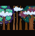 beautiful forest at night vector image