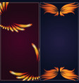 bird fire wings fantasy banner feather burning fly vector image